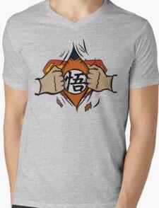 Super saiyan man Mens V-Neck T-Shirt