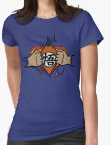 Super saiyan man Womens Fitted T-Shirt
