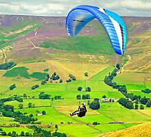 Paragliding off Mam Tor - 01  by Rod Johnson