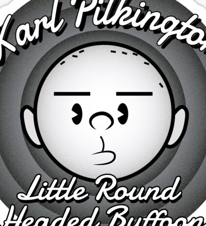 The Round Headed Buffoon Sticker