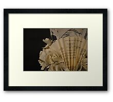 Paper dress close up Framed Print