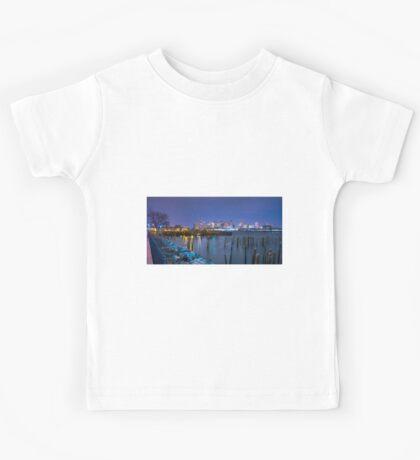Boston Skyline and Harbor Kids Tee