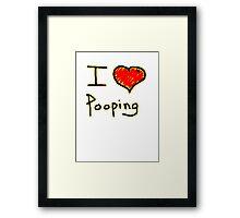 i love pooping funny Framed Print