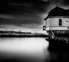 House by the Sea BW by Erik Brede
