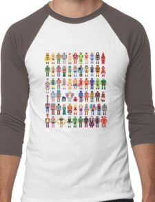 8-bit Masters Men's Baseball ¾ T-Shirt