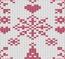 Christmas Cross Stitch Sampler Sticker