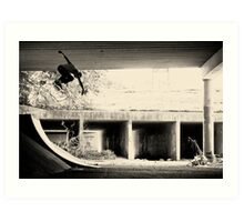 Jason Dill backside ollie by Sam Muller Art Print