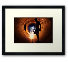 Burning Tunnel by Sam Muller Framed Print