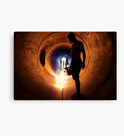 Burning Tunnel by Sam Muller Canvas Print