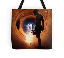 Burning Tunnel by Sam Muller Tote Bag