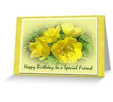 Special Friend Birthday Greeting Card - Yellow Primrose Greeting Card