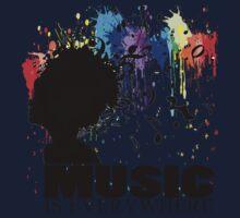 MUSIC IS EVERYWHERE Kids Tee