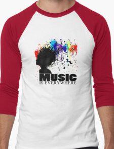 MUSIC IS EVERYWHERE Men's Baseball ¾ T-Shirt