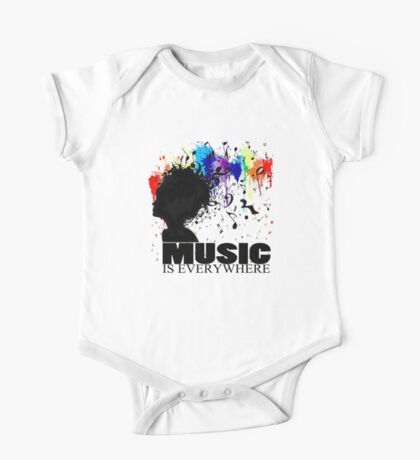 MUSIC IS EVERYWHERE One Piece - Short Sleeve