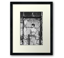 Standing at the Door Framed Print