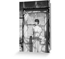 Standing at the Door Greeting Card