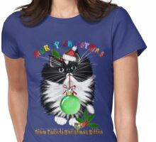 A Tuxedo Kitten Christmas Womens Fitted T-Shirt