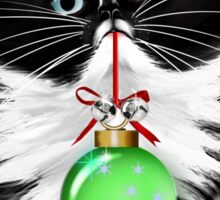 A Tuxedo Kitten Christmas Sticker
