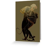 Hercules and The Nemean Lion Greeting Card