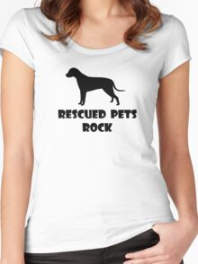 Rescued Pets Rock Women's Fitted Scoop T-Shirt