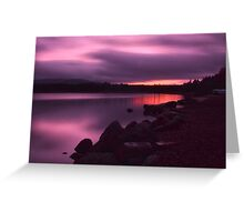 Purple Sky Greeting Card