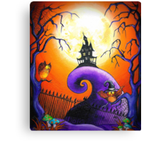 Spells and Owls Canvas Print