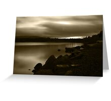 sunset in black&white Greeting Card