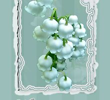 Wedding Happiness Greeting Card - Lily of the Valley Flowers by MotherNature