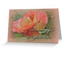 Sympathy Greeting Card - Peach Rose Greeting Card