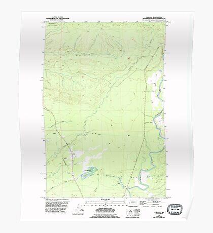 USGS Topo Map Washington State WA Carlisle 240355 1955 24000 Poster