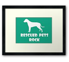 Rescued Pets Rock Framed Print