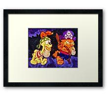 Garfield Halloween Framed Print
