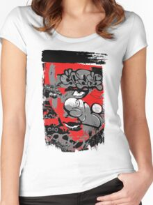 graffiti girl Women's Fitted Scoop T-Shirt