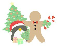 Penguin & Gingerbread #1 by simplepaperplan