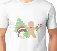 Penguin & Gingerbread #1 Unisex T-Shirt