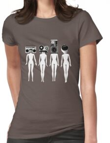 four chicks retro remix Womens Fitted T-Shirt