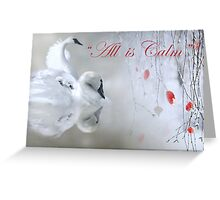 Swan Christmas Card Greeting Card