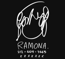 Ramona Flowers (on Black) T-Shirt
