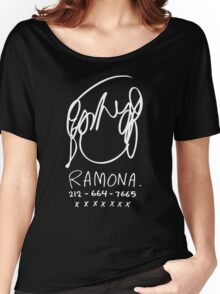 Ramona Flowers (on Black) Women's Relaxed Fit T-Shirt