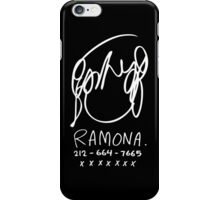 Ramona Flowers (on Black) iPhone Case/Skin