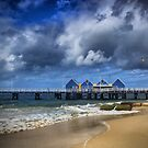 A Stormy Day at the Jetty by Jill Fisher