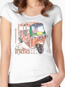 I LOVE INDIA T-shirt Women's Fitted Scoop T-Shirt