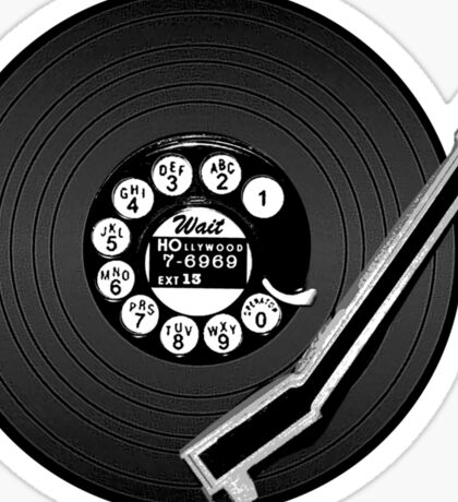 dial play hollywood Sticker