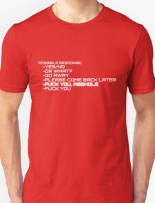 F*** You, Asshole (Terminator) Unisex T-Shirt