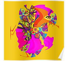Abstract eye machine Poster