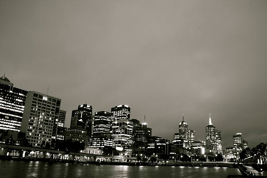 Melbourne City B&W by David Toolan