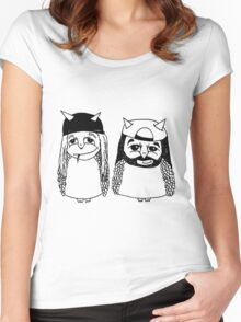 Jay and Silent Bob Owls Women's Fitted Scoop T-Shirt