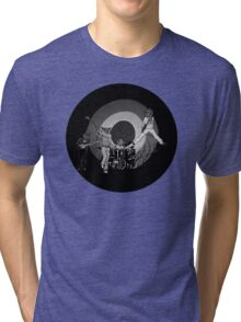 The Hoo Black and White Version (The Kids Owl Alright) Tri-blend T-Shirt