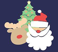 Santa & Reindeer #2 by simplepaperplan