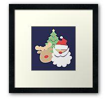 Santa & Reindeer #2 Framed Print
